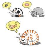 猫作梦 向量例证