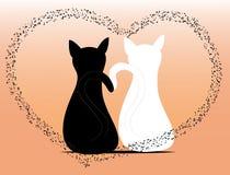 猫例证爱向量 免版税库存图片