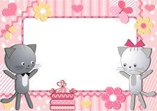 猫儿童photoframework s 免版税库存照片
