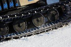 猫元件机piste雪工作 库存图片