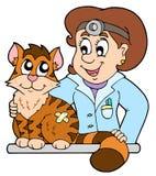 猫兽医 免版税库存照片