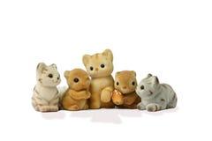 猫友谊灰鼠 库存照片