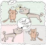 猫和狗 库存图片