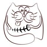 猫和鱼 免版税库存图片