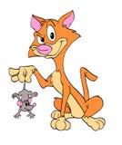 猫和鼠标 免版税库存图片