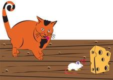 猫和鼠标 免版税图库摄影