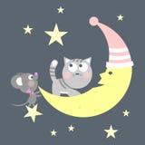 猫和鼠标 库存例证