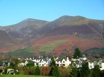 猫响铃美丽的景色从镇, Cumbria,英国的 免版税库存图片