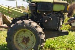 猫国家(地区)母牛小猫生活 拖拉机 乌克兰 免版税图库摄影