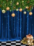 猫圣诞节梦想家基石休眠温暖的视窗 图库摄影