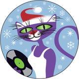猫圣诞节爵士乐 图库摄影