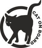 猫在船上 免版税图库摄影
