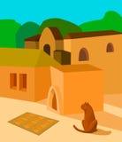 猫在阳光下 库存照片