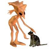 猫地精 向量例证