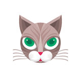 猫坚硬的传染媒介标志例证 猫商标 猫动物标志 猫顶头传染媒介概念例证 似猫的例证 库存例证