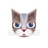 猫坚硬的传染媒介标志例证 猫商标 猫动物标志 猫顶头传染媒介概念例证 似猫的例证 向量例证