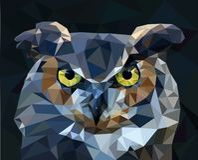 猫头鹰低多样式 也corel凹道例证向量 免版税库存图片