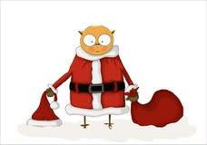 猫头鹰圣诞老人 库存图片