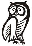 猫头鹰符号 免版税库存图片
