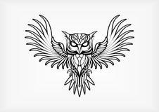 猫头鹰部族Tatto传染媒介例证 免版税图库摄影