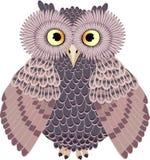 猫头鹰,传染媒介例证褐色猫头鹰 向量例证