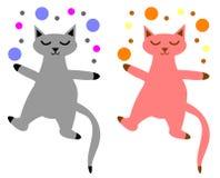 猫嬉戏的集 图库摄影