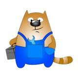 猫安装工 免版税库存照片
