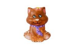 猫小雕象 免版税库存照片