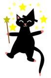 猫巫婆 库存图片