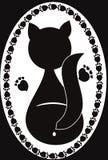 猫徽标 免版税库存图片