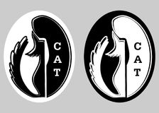 猫徽标 库存图片