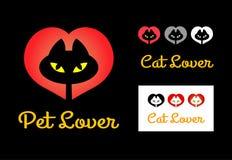猫恋人标志 库存照片