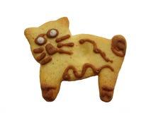 猫曲奇饼 免版税库存照片