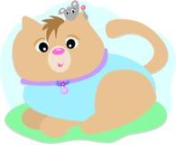 猫朋友鼠标 图库摄影