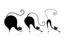 猫样式设计-从小到大 免版税库存图片
