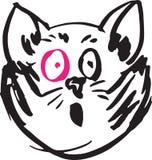 猫桃红色眼睛 免版税库存图片