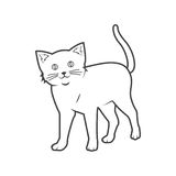 猫概述 库存例证
