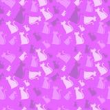 猫模式粉红色 皇族释放例证