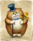 猫滑稽的例证 免版税库存图片