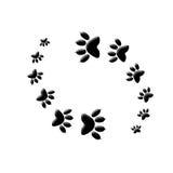 猫爪子打印yin杨 免版税库存图片