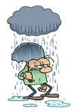 猫狗下雨 向量例证