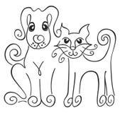 猫狗 免版税图库摄影