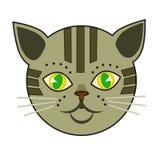 猫猫叫声 库存例证