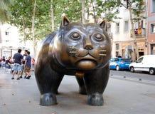 猫的雕塑 库存图片