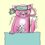 猫神经病患者 免版税库存图片