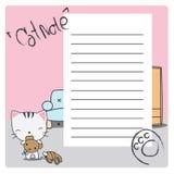 猫笔记在屋子里 免版税库存图片