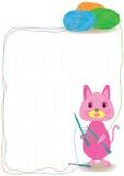 猫纱线 库存照片