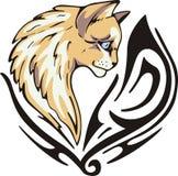 猫纹身花刺 库存图片