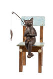 猫被抓的鱼 库存图片