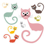 猫被设置的传染媒介例证 免版税库存照片